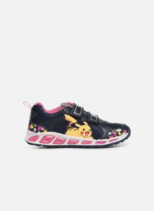 Sneakers Geox J Shuttle Girl J8206D Blå se bagfra