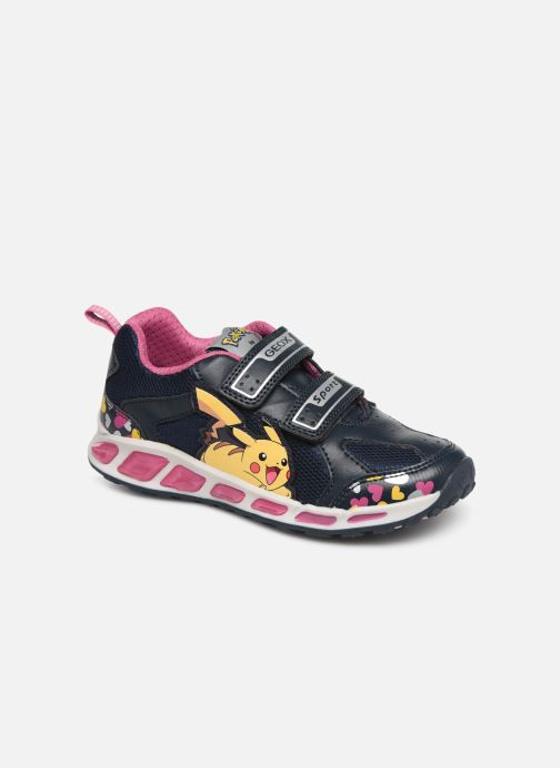 Sneakers Geox J Shuttle Girl J8206D Blå detaljeret billede af skoene