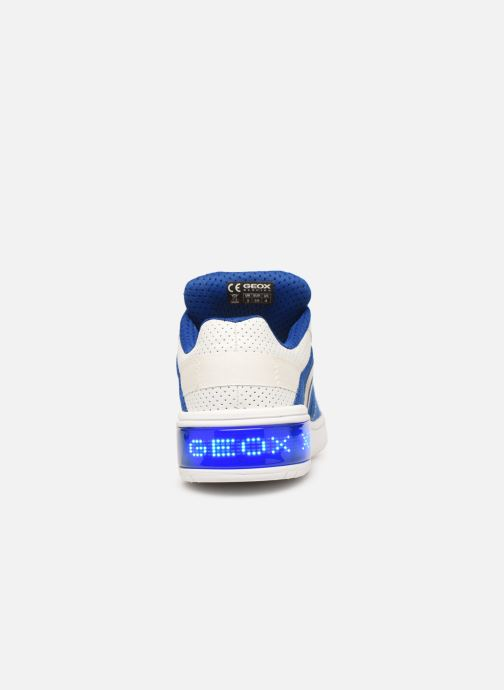 Trainers Geox J Xled Boy J927QB Blue view from the right
