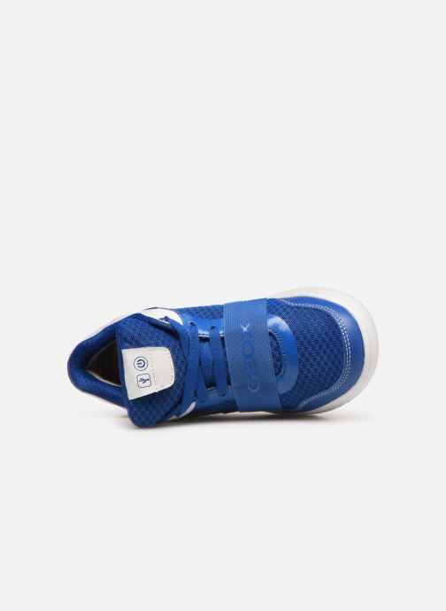 Trainers Geox J Xled Boy J927QB Blue view from the left