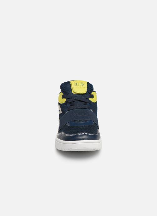 Sneaker Geox J Xled Boy J927QB blau schuhe getragen