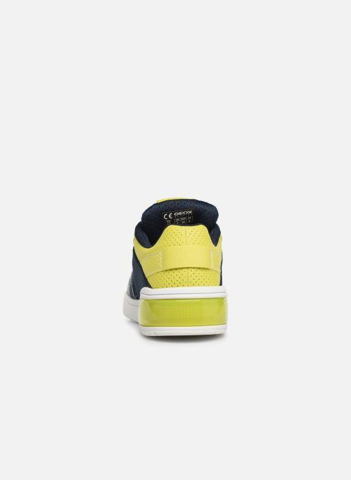Sneaker Geox J Xled Boy J927QB blau ansicht von rechts