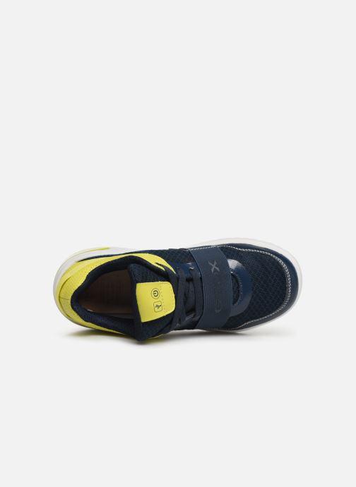 Sneakers Geox J Xled Boy J927QB Blauw links