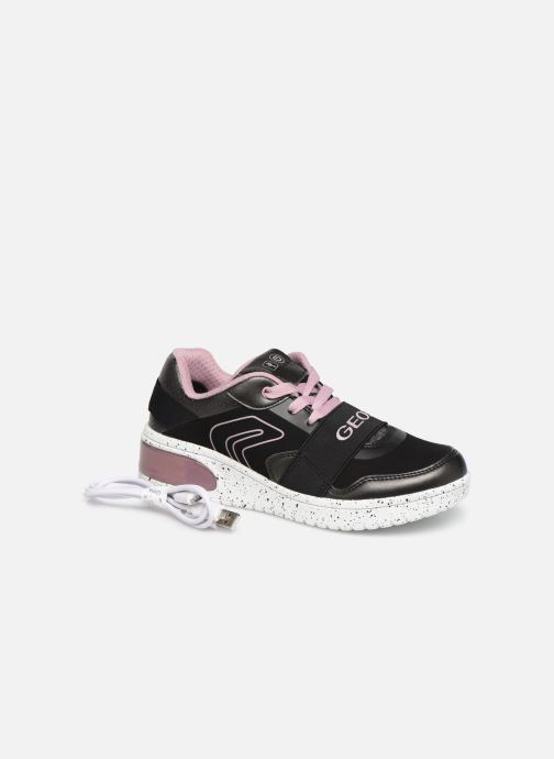 Sneakers Geox J Xled Girl J928DA Nero immagine 3/4