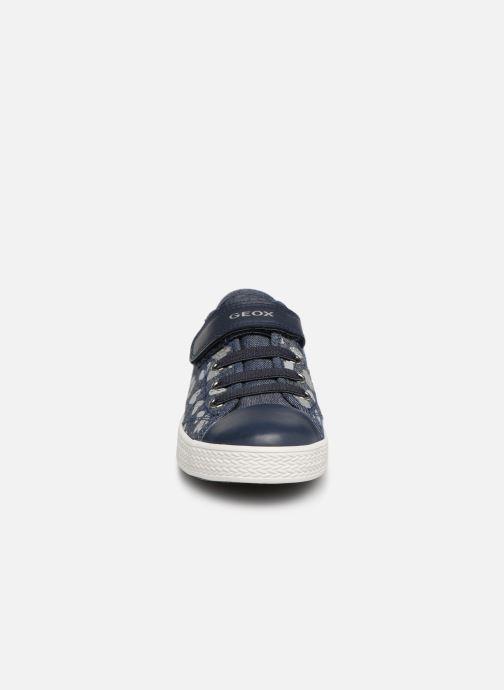 Baskets Geox Jr Ciak Girl J9204J Bleu vue portées chaussures