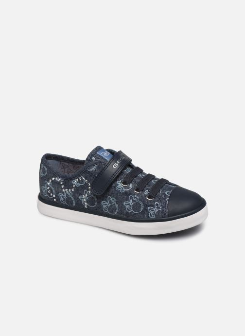 Baskets Geox Jr Ciak Girl J9204J x Mickey Bleu vue détail/paire