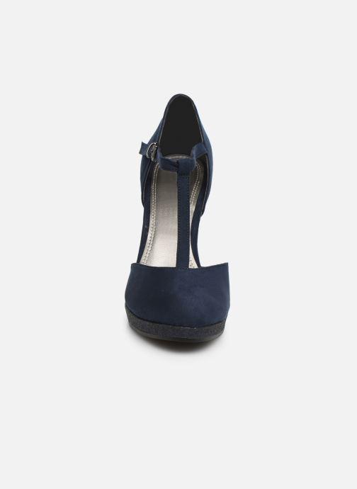 Escarpins Marco Tozzi Heta Bleu vue portées chaussures