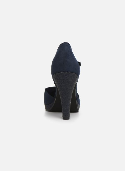 High heels Marco Tozzi Heta Blue view from the right