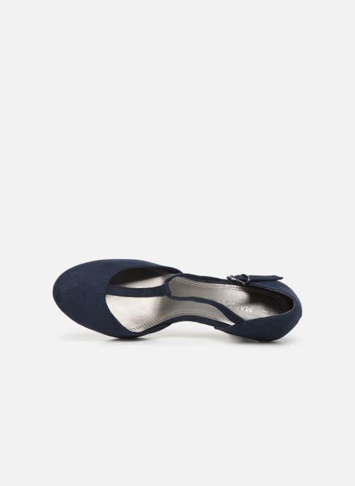 Zapatos de tacón Marco Tozzi Heta Azul vista lateral izquierda