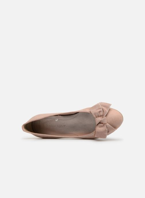 Ballet pumps Marco Tozzi Nellya Pink view from the left