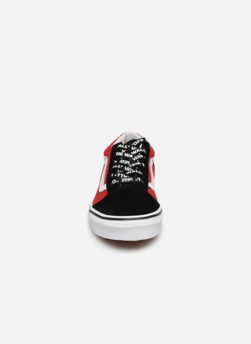 Baskets Vans Old Skool K Rouge vue portées chaussures
