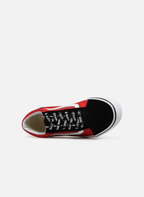 Sneaker Vans Old Skool K rot ansicht von links