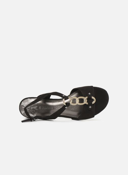 Sandals Marco Tozzi Kaila Black view from the left