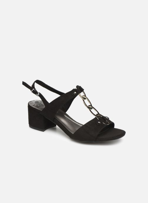 Sandals Marco Tozzi Kaila Black detailed view/ Pair view