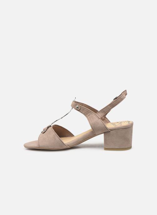 Sandales et nu-pieds Marco Tozzi Kaila Gris vue face