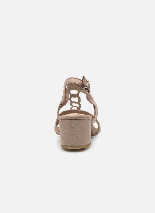 Sandales et nu-pieds Marco Tozzi Kaila Gris vue droite