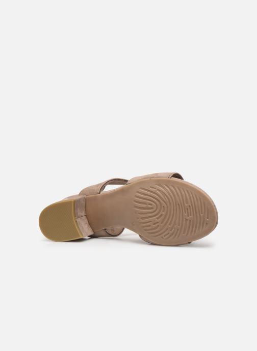 Sandales et nu-pieds Marco Tozzi Kaila Gris vue haut