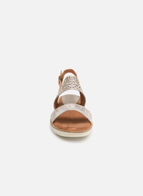 Sandali e scarpe aperte Marco Tozzi Leolia Grigio modello indossato