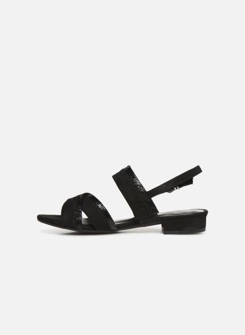Sandales et nu-pieds Marco Tozzi Leyla Noir vue face