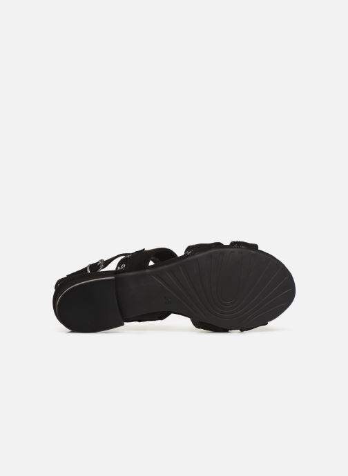 Sandales et nu-pieds Marco Tozzi Leyla Noir vue haut