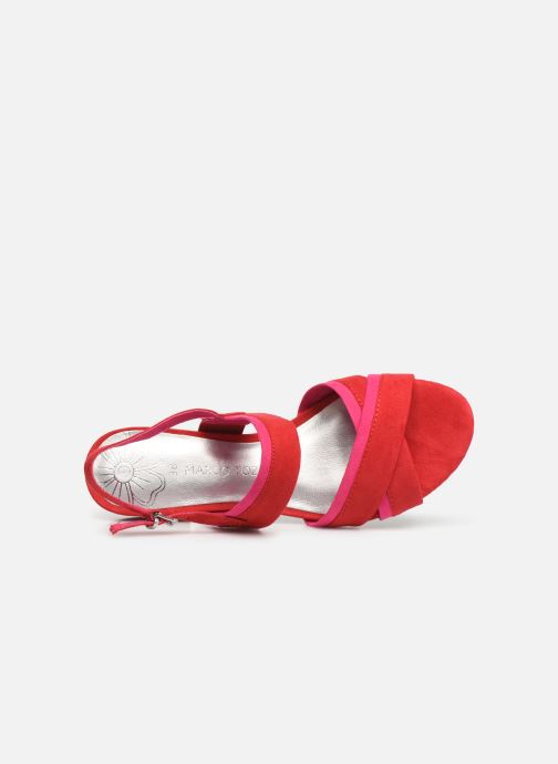 Sandales et nu-pieds Marco Tozzi Leyla Rouge vue gauche