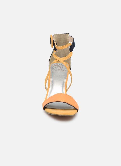 Sandales et nu-pieds Marco Tozzi Orfee Jaune vue portées chaussures