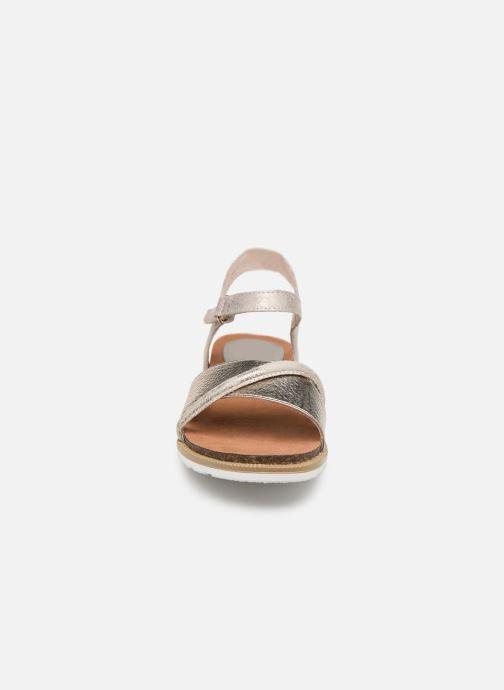 Sandales et nu-pieds Marco Tozzi Idil Beige vue portées chaussures