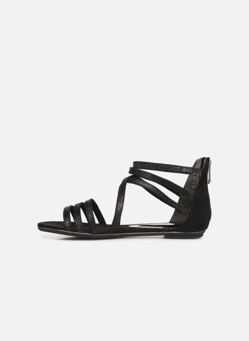 Sandales et nu-pieds Marco Tozzi Amanda Noir vue face