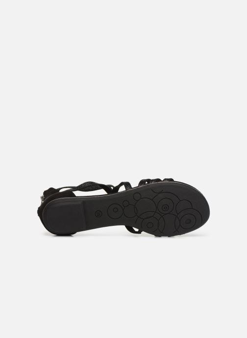 Sandales et nu-pieds Marco Tozzi Amanda Noir vue haut
