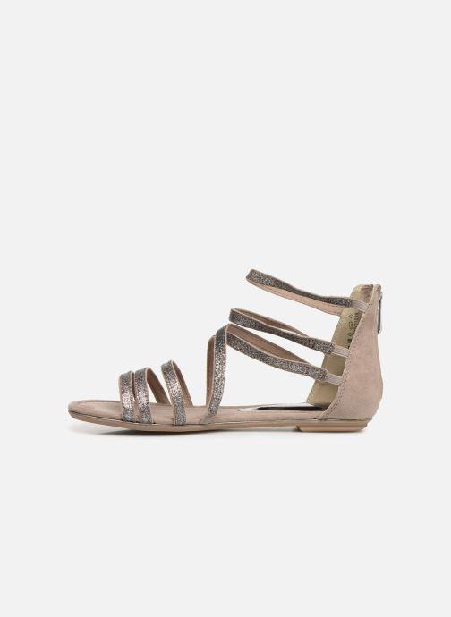 Sandales et nu-pieds Marco Tozzi Amanda Beige vue face
