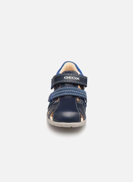 Sandalen Geox B Kaytan B9250B blau schuhe getragen