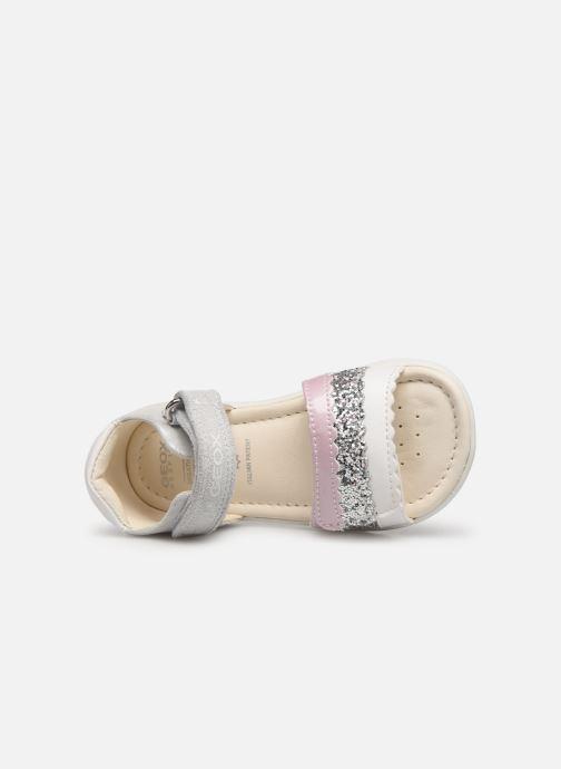 Sandales et nu-pieds Geox B Sandal Alul Girl B921YB Argent vue gauche