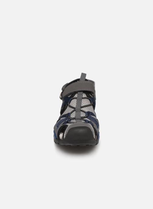 Sandales et nu-pieds Geox J Borealis Boy J920RB Bleu vue portées chaussures