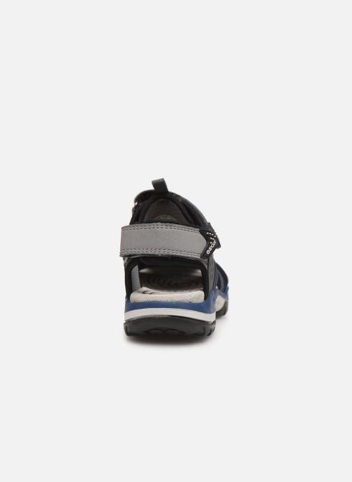 Sandalen Geox J Borealis Boy J920RB blau ansicht von rechts