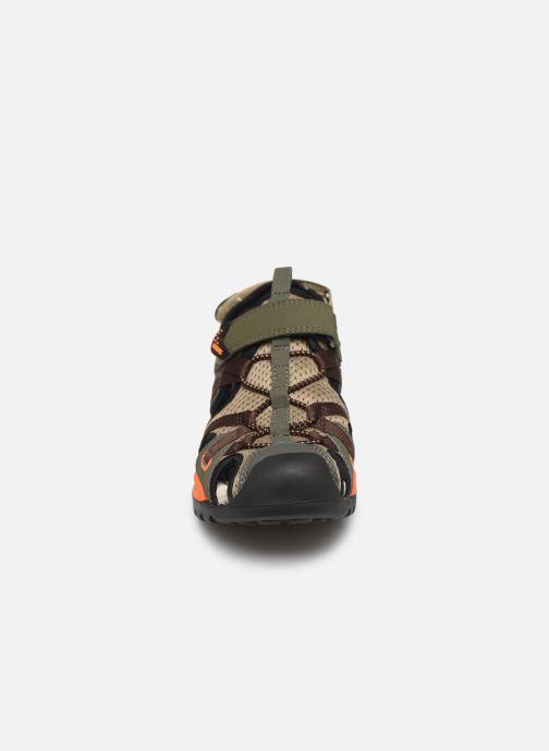 Sandales et nu-pieds Geox J Borealis Boy J920RB Vert vue portées chaussures