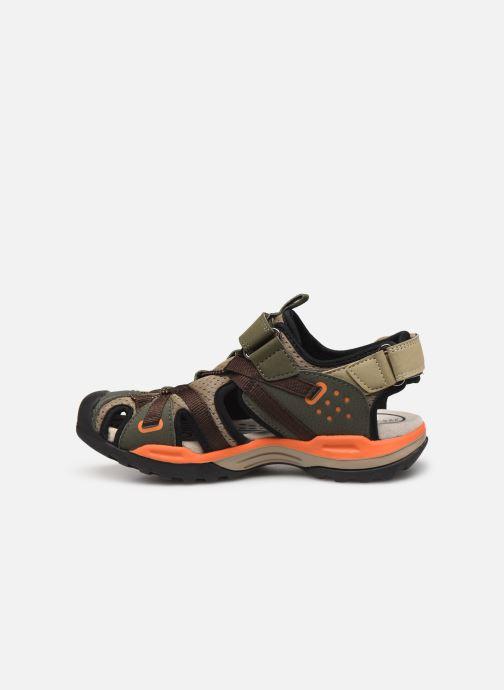 Sandales et nu-pieds Geox J Borealis Boy J920RB Vert vue face