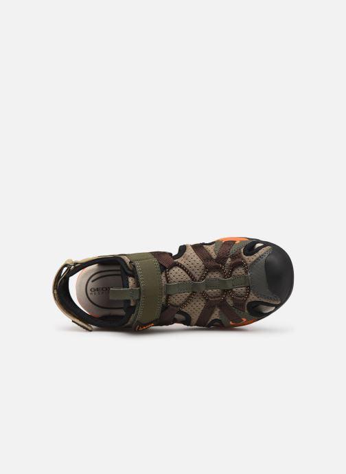 Sandales et nu-pieds Geox J Borealis Boy J920RB Vert vue gauche
