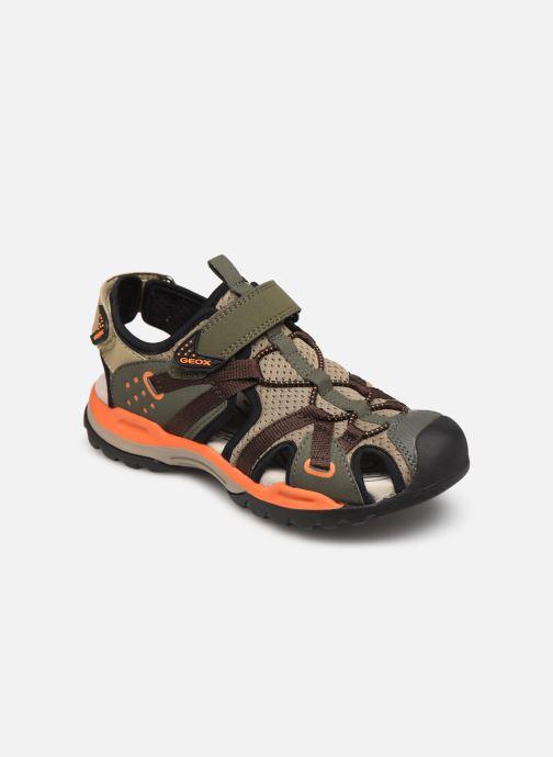 Sandales et nu-pieds Geox J Borealis Boy J920RB Vert vue détail/paire