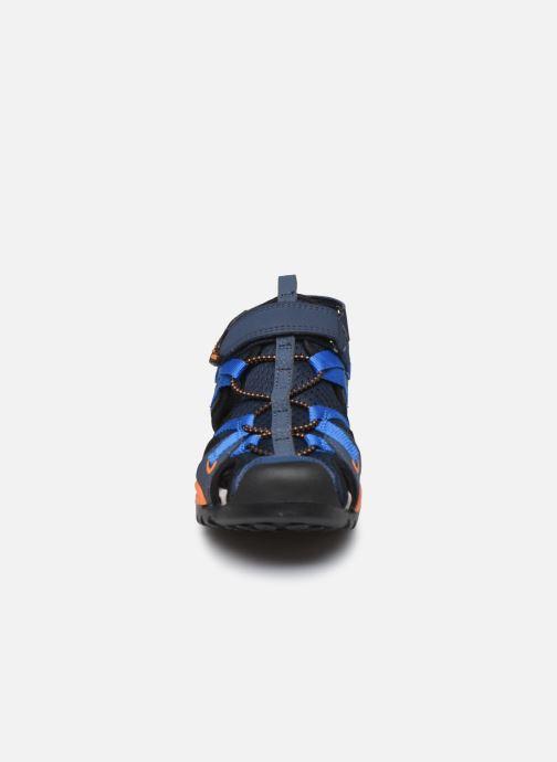 Sandalen Geox J Borealis Boy J920RB blau schuhe getragen