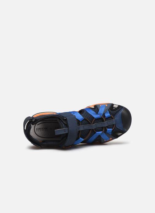 Sandalen Geox J Borealis Boy J920RB blau ansicht von links