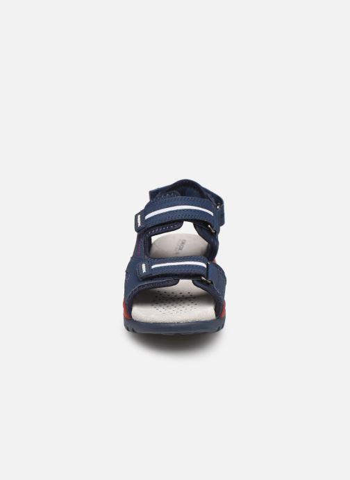 Sandales et nu-pieds Geox J Borealis Boy J920RD Bleu vue portées chaussures