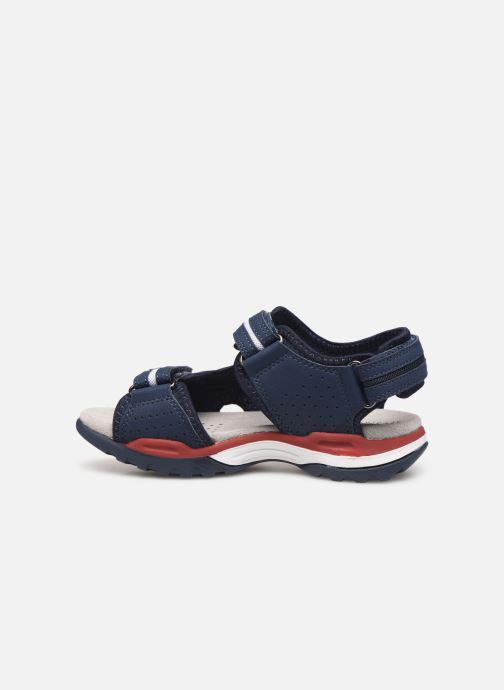 Sandales et nu-pieds Geox J Borealis Boy J920RD Bleu vue face