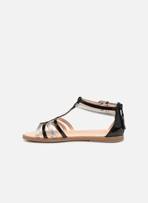 Sandals Geox J Sandal Karly Girl J7235D Black front view