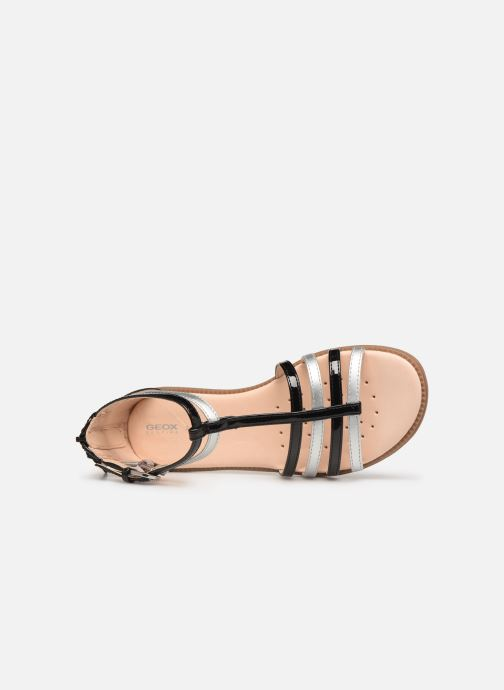 Sandals Geox J Sandal Karly Girl J7235D Black view from the left