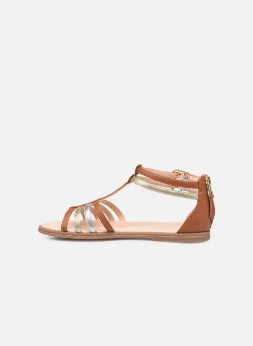 Sandales et nu-pieds Geox J Sandal Karly Girl J7235D Marron vue face