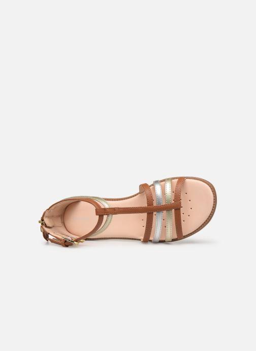 Sandales et nu-pieds Geox J Sandal Karly Girl J7235D Marron vue gauche
