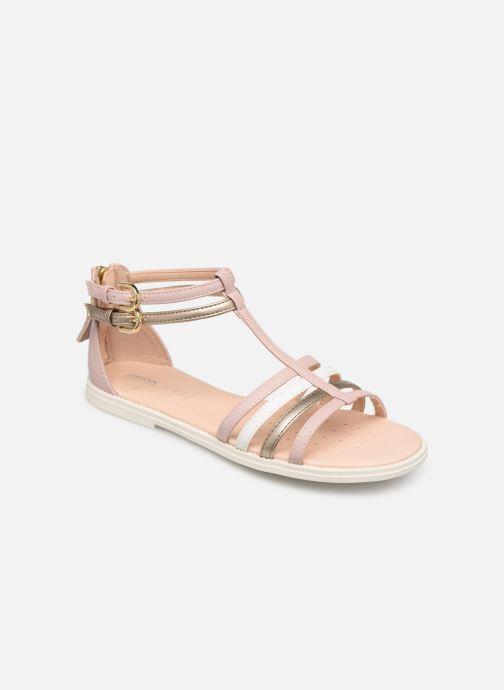 Sandales et nu-pieds Geox J Sandal Karly Girl J7235D Rose vue détail/paire
