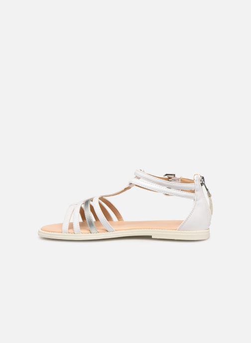 Sandales et nu-pieds Geox J Sandal Karly Girl J7235D Blanc vue face