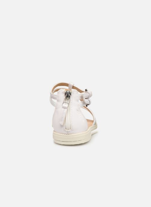 Sandals Geox J Sandal Karly Girl J7235D White view from the right