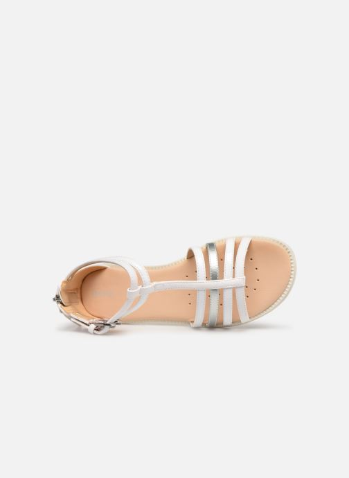 Sandals Geox J Sandal Karly Girl J7235D White view from the left